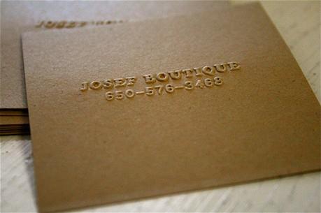 Raised Embossed Minimalist business card