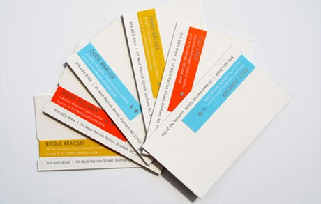 Flywheel Design Identity business card