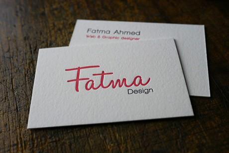 Fatma Design business card