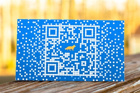 Foxtrot QR Code business card