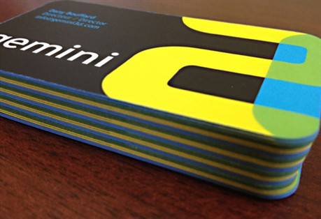 Gemini 3D business card
