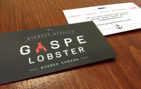 Gaspe Lobster Identity business card