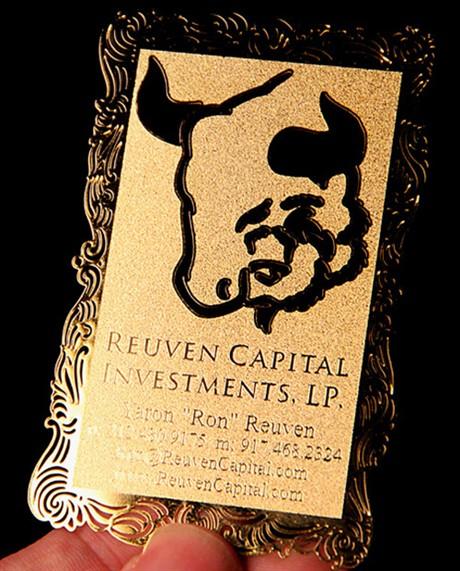 Gold Mottled business card