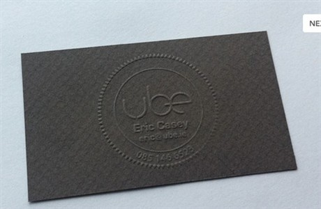 Gold Foil Emboss Design business card
