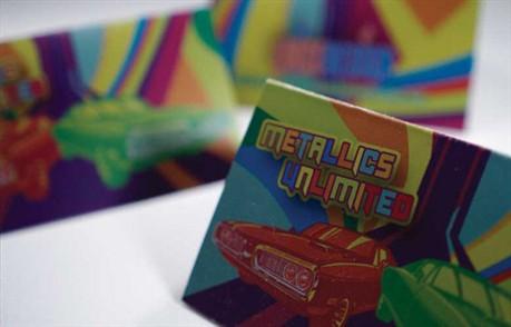 Metallics Unlimited business card