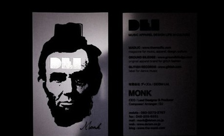 MONK business card