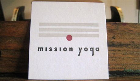 Mission Yoga Cards business card