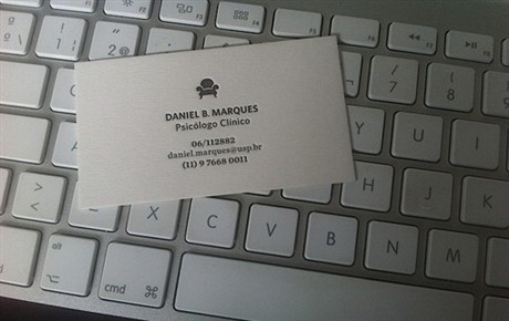 Natural White Letterpress business card