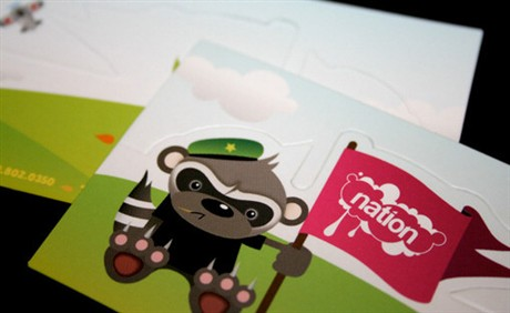 Nation Toys business card