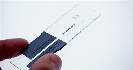 Laser Cut Translucent Design business card