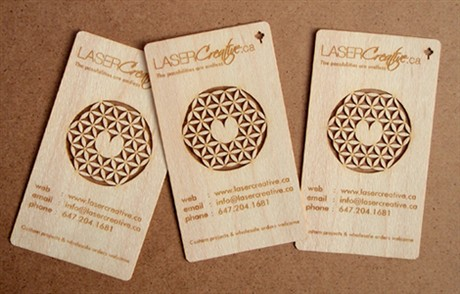 Laser Etched business card