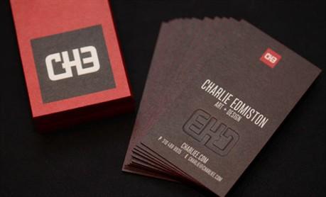 Red & Black Design business card