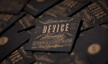 Letterpress French Construction business card