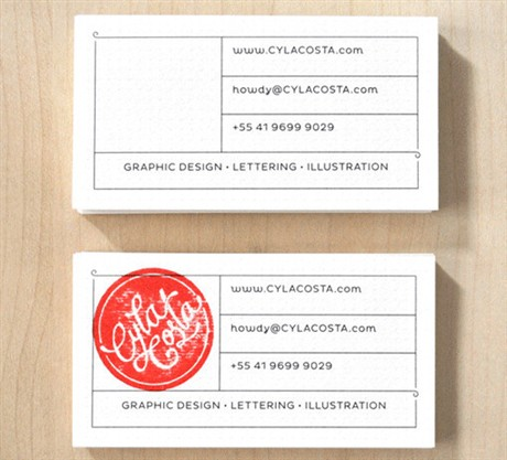 Personal Stamp Card business card