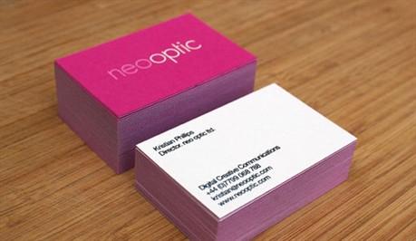 Pink Letterpress business card