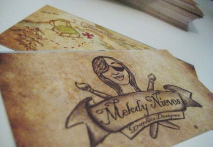 Pirate Treasure Card business card