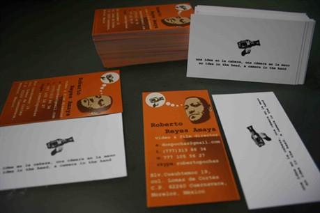 Roberto Reyes Amaya business card