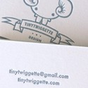 Tiny Twiggette Letterpress