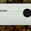 Braille Business Cards