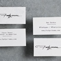 Hand Typed Business Card