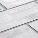 Frosted Transparent Plastic Card