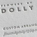 Flowers By Dolly Letterpress