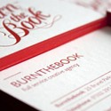 Red Letterpress Cards
