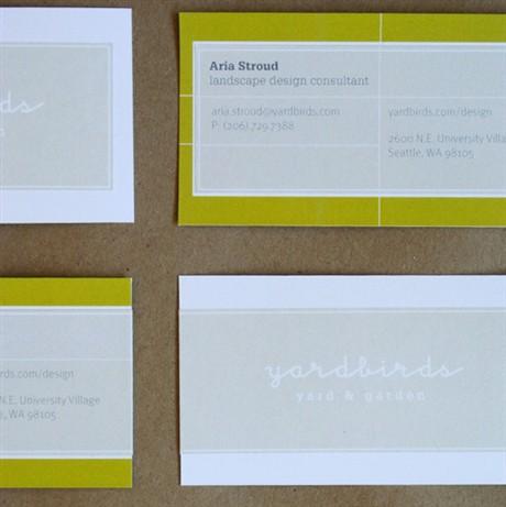 Yardbirds Identity business card