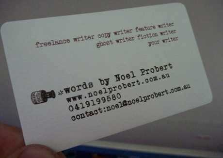 Vintage Typewriter Design business card