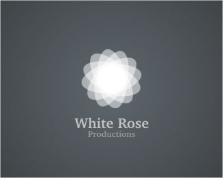 film,white,rose logo