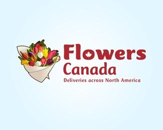 flowers,canada logo