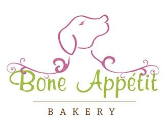 brown,green,pink,appetit,dog food logo