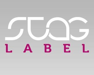 design,stag label logo