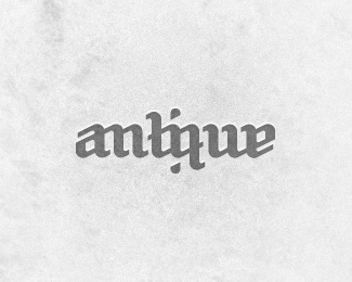 history,word,antique,ambirgram,wordmark logo
