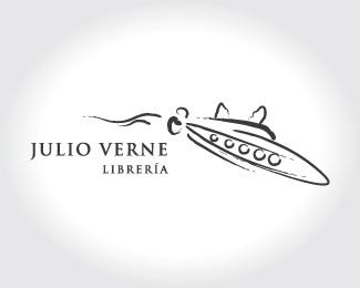 logo,a,zeckua,julio verne,librerí logo