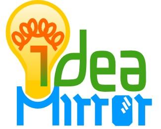 idea,light,lightbulb,mirror logo
