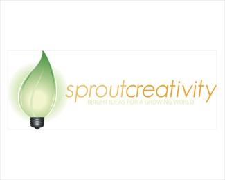 creativity,green,leaf,lightbulb,eco-friendly logo