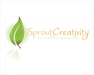creativity,green,ideas,leaf,lightbulb logo