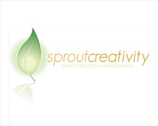 creativity,green,leaf,lightbulb,eco logo