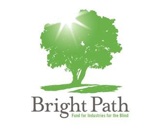 green,light,path,foundation,non-profit logo