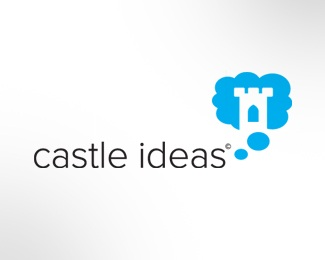 castle,cloud,ideas,thinking,thought logo