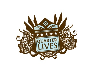 grunge,shield,flourish,lives,muku logo