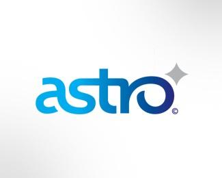 star,flow,custom type logo