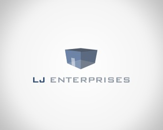 blue,box,house,enterprises,light blue logo