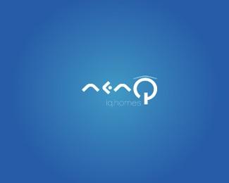 home,house,system,iq,intelligent logo