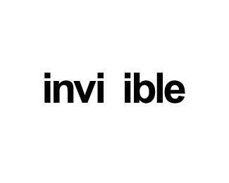 invisible,fun,typo,tricky,visibility logo