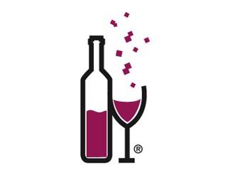 rich,glass,bottle,party,fun logo