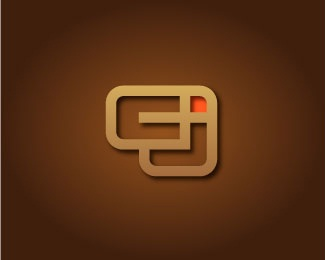 square,shadow,abstract,initials,dimensional logo