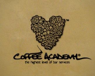 coffee,design,logo,academy logo
