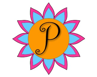 blue,circle,pink,yellow,petals logo